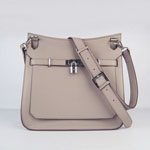 Hermes Jypsiere Fjord Leather Messenger Bag gary H6508