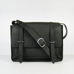Hermes Jypsiere Togo Leather Messenger Bag black H2810