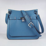 Hermes Jypsiere Fjord Leather Messenger Bag blue H6508