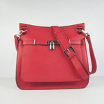 Hermes Jypsiere Fjord Leather Messenger Bag red H6508