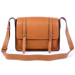 Hermes Jypsiere Togo Leather Messenger Bag Light brown 92112