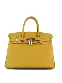Hermes Birkin 30cm Togo leather Handbags yellow golden 6088