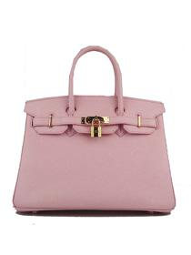 Hermes Birkin 30cm Togo leather Handbags pink Gold 6088