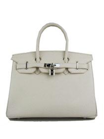 Hermes Birkin 30cm Togo leather Handbags beige Silver 6088