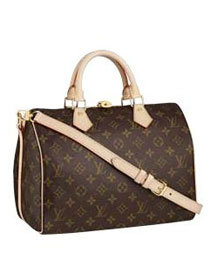 Louis Vuitton Monogram Canvas Speedy 30 with shoulder strap M40391