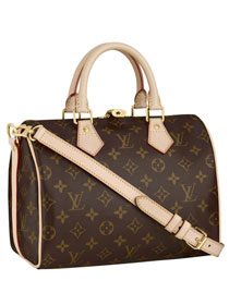 Louis Vuitton Monogram Canvas Speedy 25 with Shoulder Strap M40390