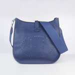 Hermes Evelyne Bag togo leather Dark Blue 6309