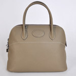 Hermes Bolide Togo Leather Tote Bag 1037 Dark gray