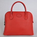Hermes Bolide Togo Leather Tote Bag 1037 Red