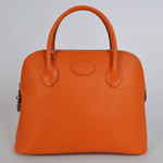 Hermes Bolide Togo Leather Tote Bag 1037 Orange