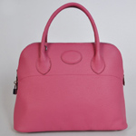 Hermes Bolide Togo Leather Tote Bag 1037 Peach