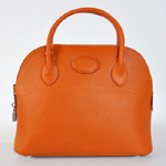 Hermes Bolide Togo Leather Tote Bag 1031 Orange