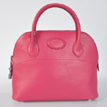 Hermes Bolide Togo Leather Tote Bag Peach 1031