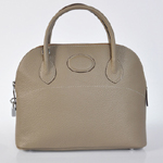 Hermes Bolide Togo Leather Tote Bag 1031 Gray