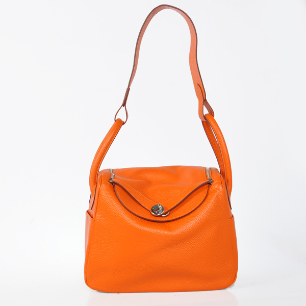 Hermes togo leather lindy bag Lindy30CM orange