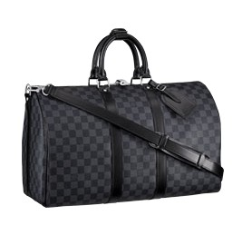 Louis Vuitton Damier Graphite Keepall 45 with Shoulder Strap N41418