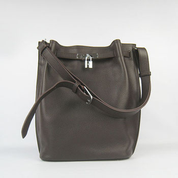 Hermes togo leather so kelly 22 (Dark coffee) H2804