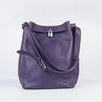 Hermes togo leather so kelly 22 (purple) H2804
