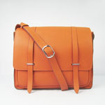 Hermes Jypsiere Togo Leather Messenger Bag Orange H2812