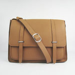 2012 Hermes Jypsiere Togo Leather Messenger Bag H2812 Light brown