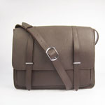 2012 Hermes Jypsiere Togo Leather Messenger Bag H2812 Dark brown