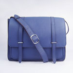 2012 Hermes Jypsiere Togo Leather Messenger Bag Navy blue H2812