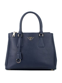 Prada Saffiano Lux Calf Leather Tote Blue BN1786