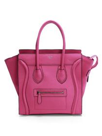 2012 Celine Boston smile Tote handbag 3308 rose red