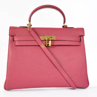 Hermes Kelly 35cm Togo Leather gold peach red