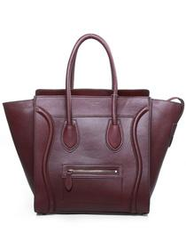 2012 Celine Boston smile Tote handbag 3308 wine red