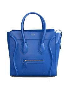 2012 Celine mini boston smile tote handbag napa Leather 98169 blue