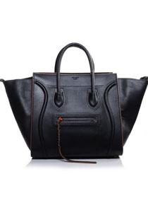 2013 Celine Luggage Phantom Square original leather bag 3341 black