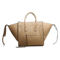 2013 Celine Luggage Phantom Square original leather Bag 3341 apricot&black