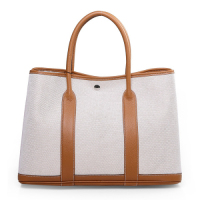 2013 Hermes garden party A1288 white&earch yellow