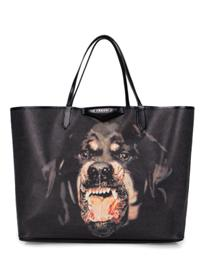 2013 Givenchy Antigona Shopping Bag Printed Pottweiler 08109 black