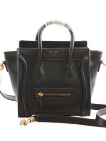 2013 Celine nano luggage tote smooth calfskin handbag 98168 black