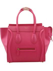 2013 Celine luggage tote boston handbag smooth calfskin 98169 rose red