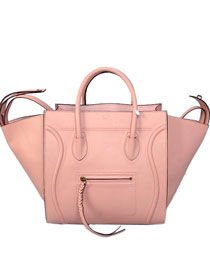 2013 Celine Luggage Phantom Square original leather Bag 3341 pink&black