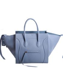 2013 Celine Luggage Phantom Square original leather Bag 3341 ice blue