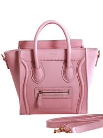 2013 Celine nano luggage tote bag 3309 cherry pink