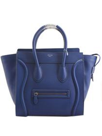 2013 Celine luggage tote boston handbag smooth calfskin 98169 blue