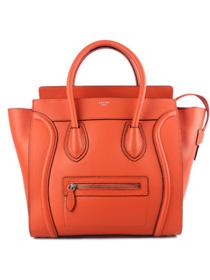 Hot 2013 celine luggge tote handbag 88022 fluorescent orange