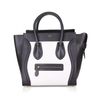 Hot 2013 celine luggge tote handbag 88022 white&black