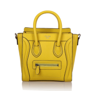 2013 Celine nano luggage tote handbag 88029 fluorescent powder yellow