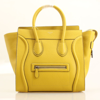2013 Celine luggage tote boston handbag smooth calfskin 98169 lemon yellow