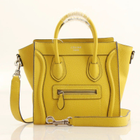 2013 Celine nano luggage tote smooth calfskin handbag 98168 lemon yellow