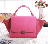 2013 Celine trapeze tote bag 3342 fluorescent pink