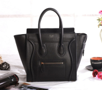 Celine mirco luggage tote original leather 3307 black