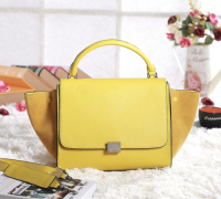 2013 Celine trapeze tote bag 3342 fluorescent yellow
