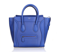 Hot 2013 celine luggge tote handbag 88022 fluorescent blue